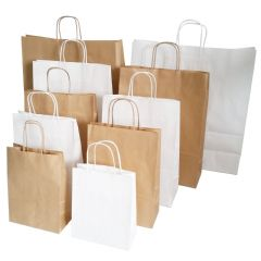 Twisted Handle Kraft Carrier Bags